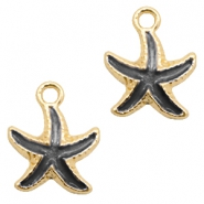 Basic quality Metall Anhänger seastar Gold-black