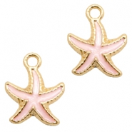Basic quality Metall Anhänger seastar Gold-light pink