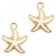 Basic quality Metall Anhänger seastar Gold-white