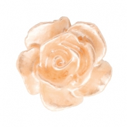 Rosen Perlen 10mm Weiss-light peach nougat pearl shine
