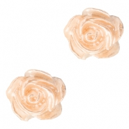 Rosen Perlen 6mm Weiss-light peach nougat pearl shine