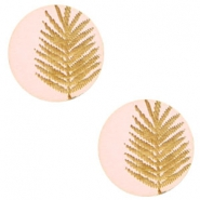 Holz Cabochon Farn 12mm Light pink