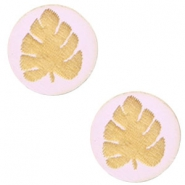 Holz Cabochon Blatt 12mm Light lavender purple