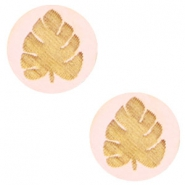 Holz Cabochon Blatt 12mm Light pink