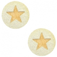 Holz Cabochon Star 12mm Champagne metallic