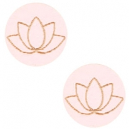 Holz Cabochon Lotus 12mm Light pink