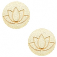 Holz Cabochon Lotus 12mm Champagne metallic