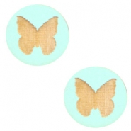 Holz Cabochon Schmetterling 12mm Turquoise
