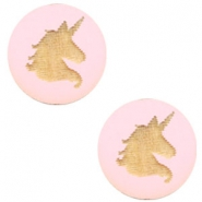 Holz Cabochon Unicorn 12mm Dark pink