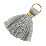 Perlen Quaste 1.8cm Gold-Mirage grey