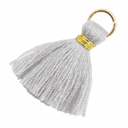 Perlen Quaste 1.8cm Gold-Light mirage grey