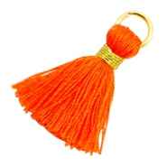 Perlen Quaste 1.8cm Gold-Neon orange