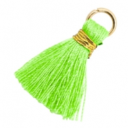 Perlen Quaste 1.8cm Gold-Bright neon green