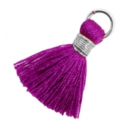 Perlen Quaste 1.8cm Silber-Electric purple violet