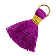 Perlen Quaste 1.8cm Gold-Electric purple violet