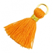 Perlen Quaste 1.8cm Gold-Flame orange