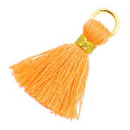 Perlen Quaste 1.8cm Gold-Fire orange