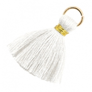 Perlen Quaste 1.8cm Gold-Bright white