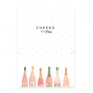 "Schmuck Wunschkarte ""cheers to you"" White-multicolour"