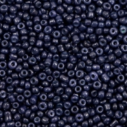 Glasperlen Rocailles 12/0 (2mm) Dark blue iris