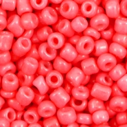 Glasperlen Rocailles 6/0 (4mm) Hot coral pink