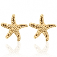 Trendy Ohrringe Nieten Seastar Gold