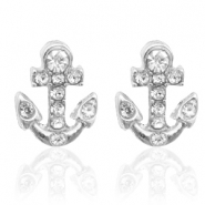 Trendy Ohrringe Nieten Anchor Silber