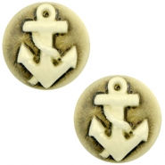 Cabochon Basic Camee 20mm Anker Black-antique gold
