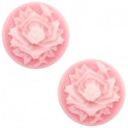 Cabochon Basic Camee 12mm Rose Pink-white