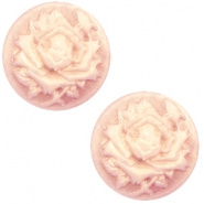 Cabochon Basic Camee 12mm Rose Vintage rose-antique gold