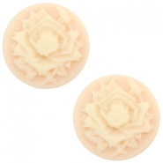 Cabochon Basic Camee 12mm Rose Light peach-beige
