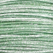 Wachskordel metallic 1.0mm Leaf green