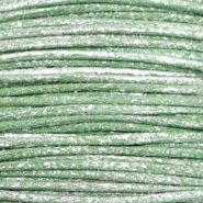 Wachskordel metallic 0.5mm Leaf green