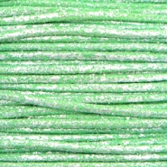 Wachskordel metallic 1.0mm Parrot green