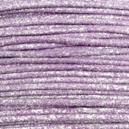 Wachskordel metallic 1.0mm Lavender purple