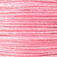 Wachskordel metallic 0.5mm Light pink