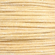 Wachskordel metallic 1.0mm Yellow beige