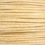 Wachskordel metallic 0.5mm Yellow beige