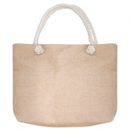 Fashion Tasche Beach bag Beige