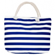 Fashion Tasche Beach bag Stripe White-dark blue