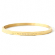 "Armbänder aus Stainless Steel - Rostfreiem Stahl ""YOU ARE ONE IN A MILLION"" Gold"