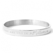 "Armbänder aus Stainless Steel - Rostfreiem Stahl ""YOU ARE ONE IN A MILLION"" Silber"