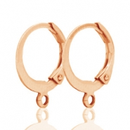 DQ Ohrringe 12mm rosegold plated