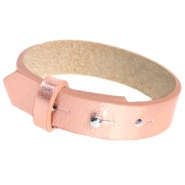 Cuoio Armbänder Leder 15 mm für 20 mm Cabochon Holographic rosegold