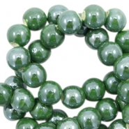 Perlen Keramik 8mm Dark green