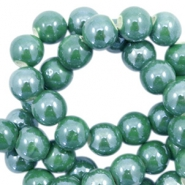 Perlen Keramik 6mm Dark green