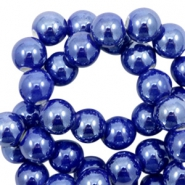 Perlen Keramik 6mm Dark blue