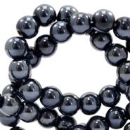 8 mm Glasperlen DQ full colour Black pearl coating
