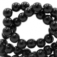 8 mm Glasperlen full colour Black
