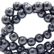 6 mm Glasperlen full colour Black pearl coating